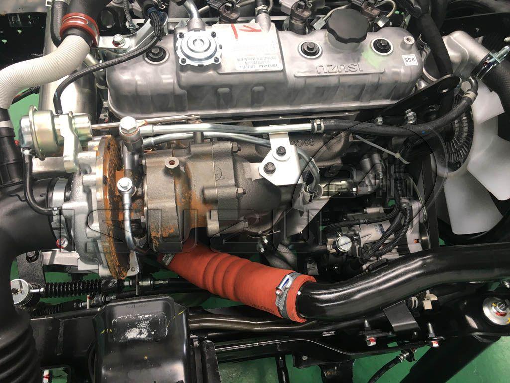 Hệ thống Turbo tăng áp trên động cơ 4JH1 4JH1E4NC xe tải Isuzu Qkr 270 1t9 2t4