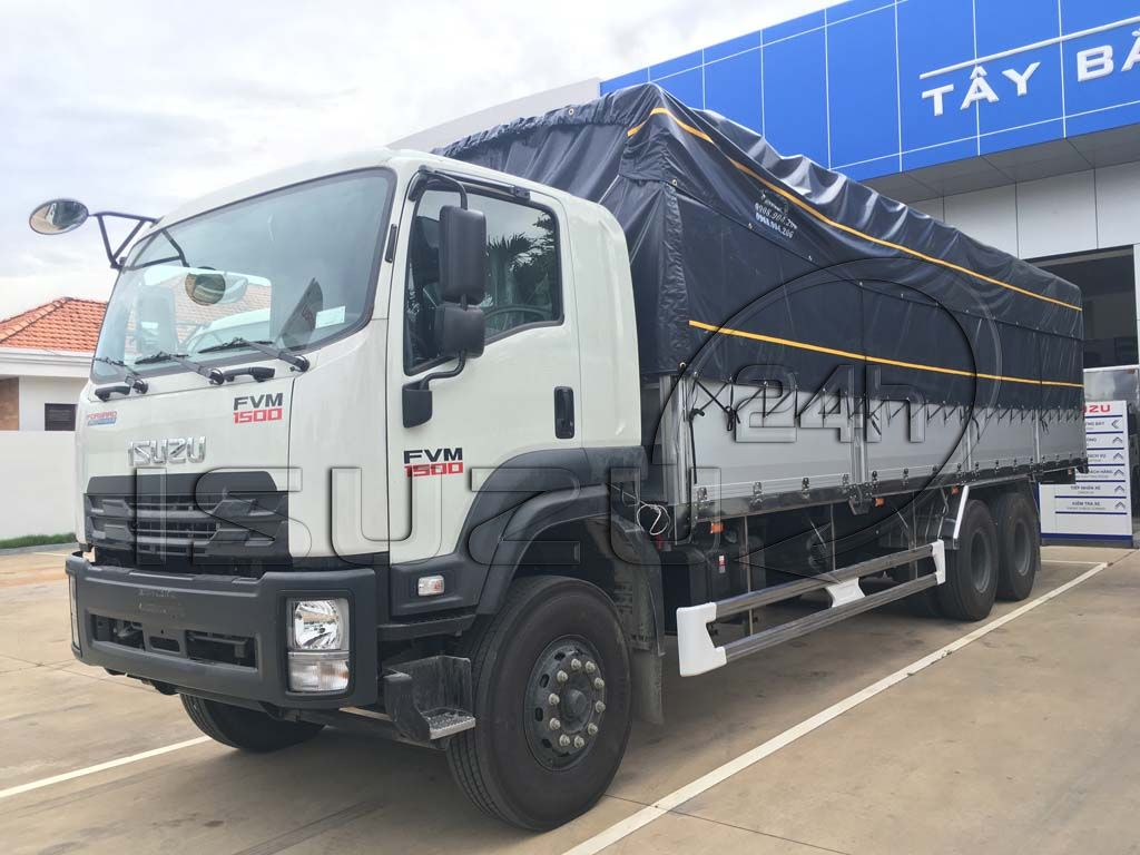 Xe tải Isuzu 15 tấn FVM 1500 thùng mui bạt bửng nhôm