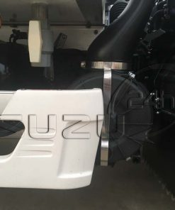 Đai inox bảo vệ bô e lọc gió xe tải Isuzu 1t9 thùng đông lạnh Quyền Auto