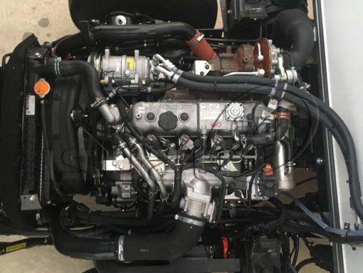 Động cơ sau khi lắp máy cấp đông xe tải Isuzu 1t9 thùng đông lạnh Quyền Auto