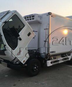 Góc lật cabin xe tải Isuzu 1t9 thùng đông lạnh Quyền Auto