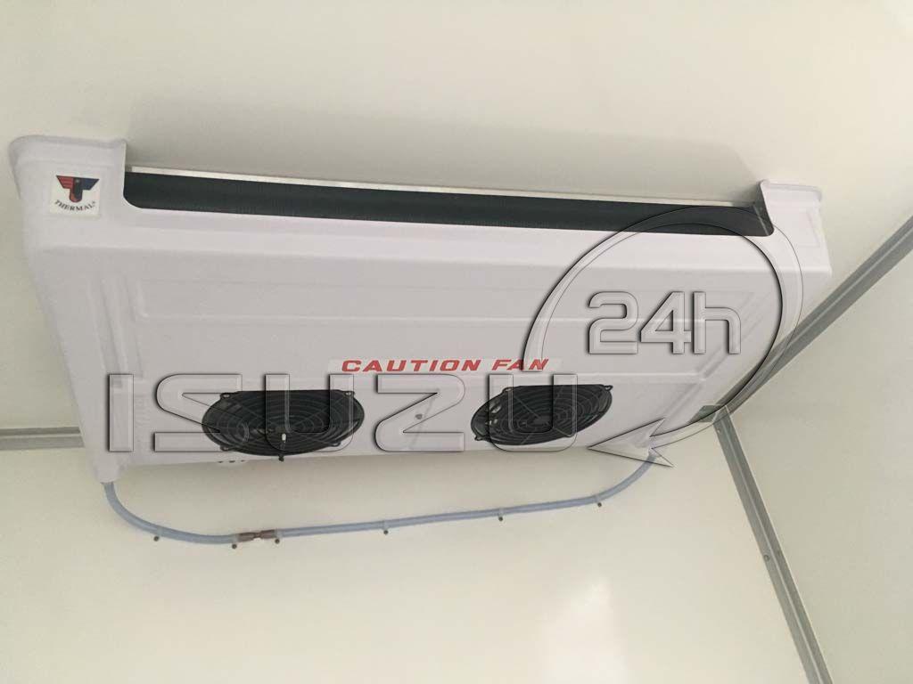 Máy lạnh cấp đông trong thùng xe tải Isuzu 1t9 thùng đông lạnh Quyền Auto