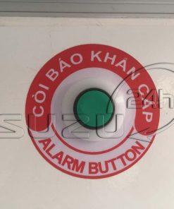 Nút còi cứu hộ trong thùng xe tải Isuzu 1t9 thùng đông lạnh Quyền Auto