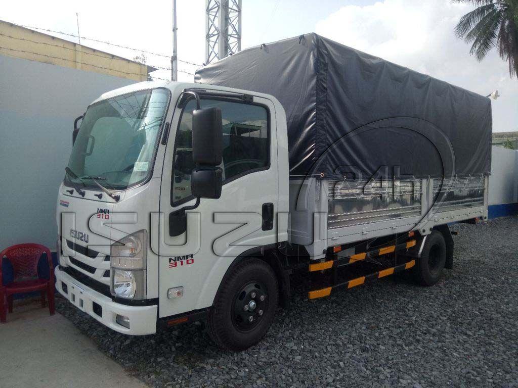 Xe tải Isuzu 1T9 đầu vuông nhập Nhật NMR 310 thùng mui bạt