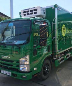 Xe tải Isuzu NMR 310 1T9 đầu cabin vuông đóng thùng đông lạnh Quyền Auto âm -18 độ Bách Hóa Xanh