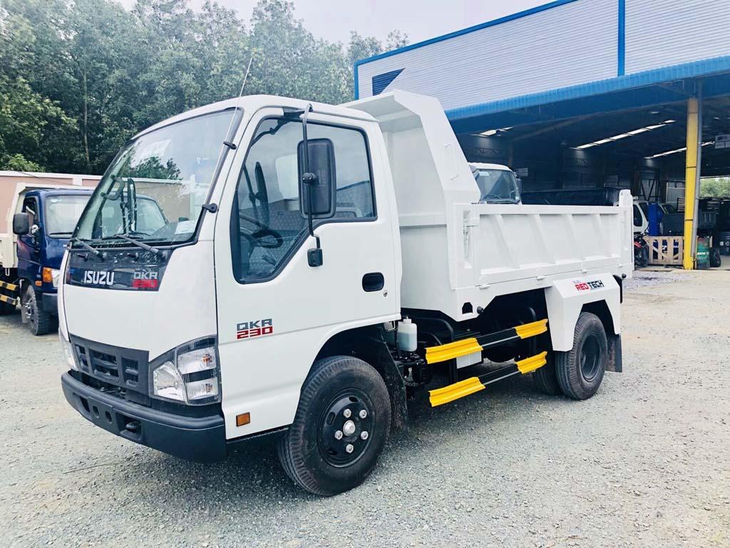 Tổng quát xe tải ben tự đổ Isuzu 2 khối tải trọng 1t9 2t4 QKR 230