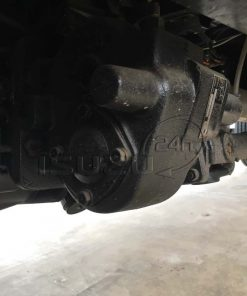 Cóc cẩu thủy lực (PTO) và láp nối bơm xe tải Isuzu 15 tấn FVM 1500 thùng lửng gắn cẩu Unic 800 8 tấn 4 khúc