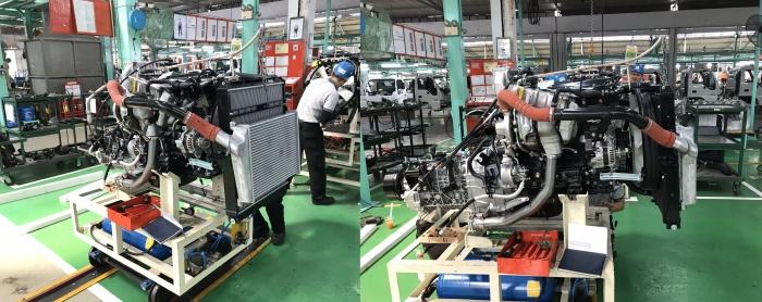 Dây chuyền lắp ráp động cơ Isuzu N-series