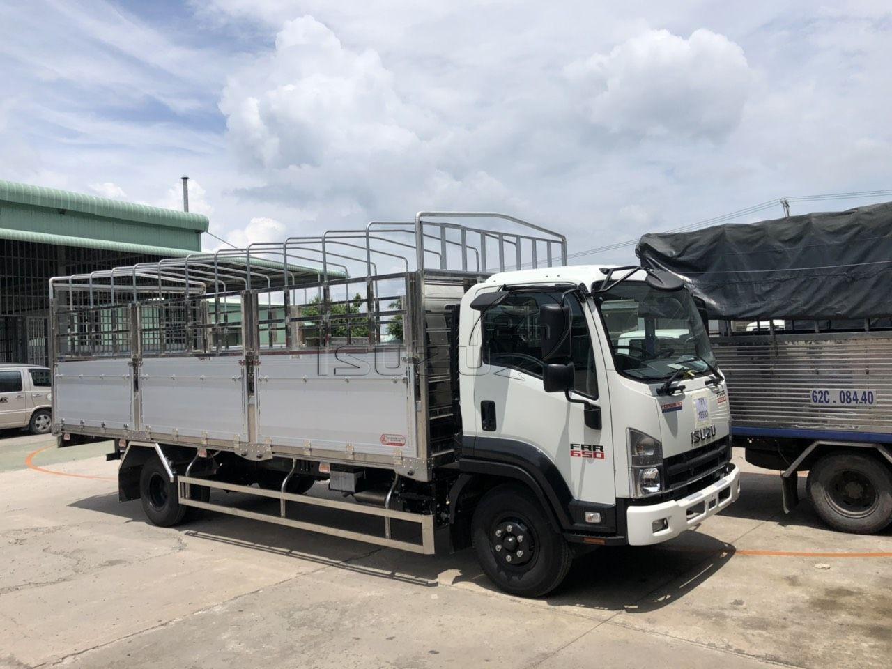 xe tải Isuzu 6T5 FRR650 thùng mui bạt nhôm đóng Lượm Auto