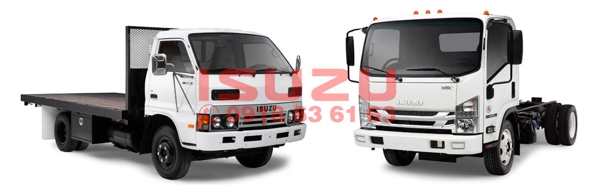 Xe tải Isuzu đời cũ và đời mới