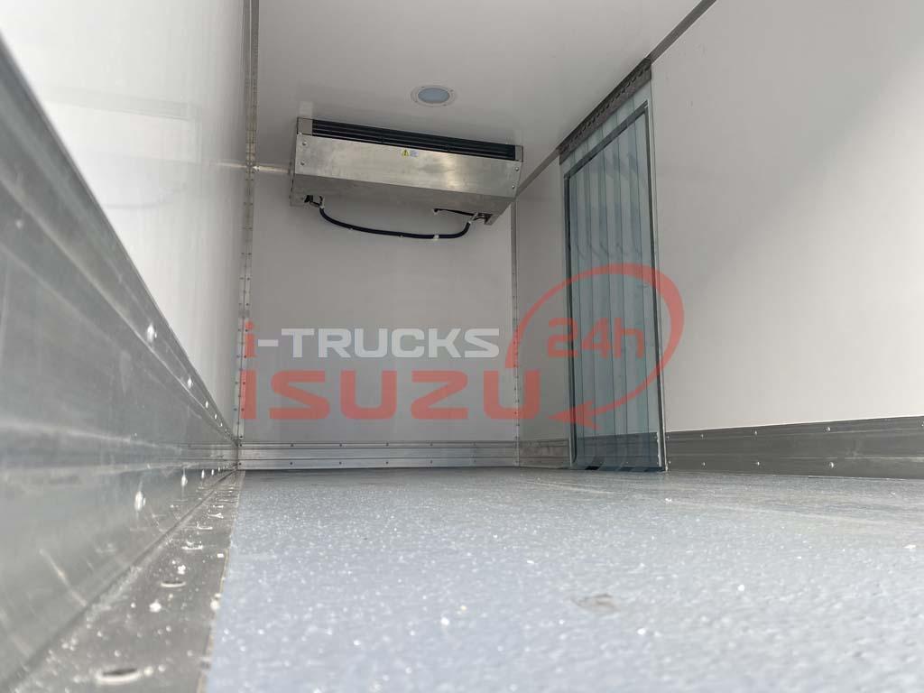 Máy đông lạnh (dàn lạnh) bên trong xe tải Isuzu QKR 270 thùng đông lạnh Lamberet sử dụng máy lạnh Carrier Citimax 700 nhiệt độ -18 độ C