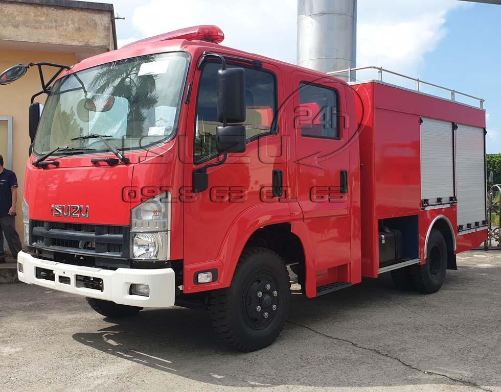 Xe cứu hoả chữa cháy pccc Isuzu 6t5 4 khối nước 400 lít bọt