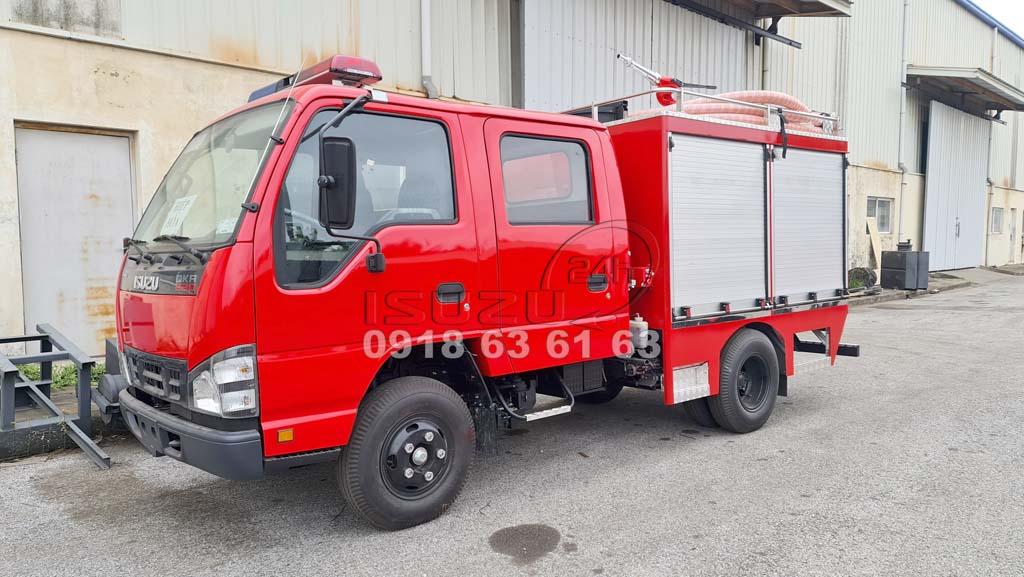 Xe Cứu Hoả Isuzu, Xe Chữa Cháy Isuzu loại nhỏ 1 khối nước và foam chữa cháy