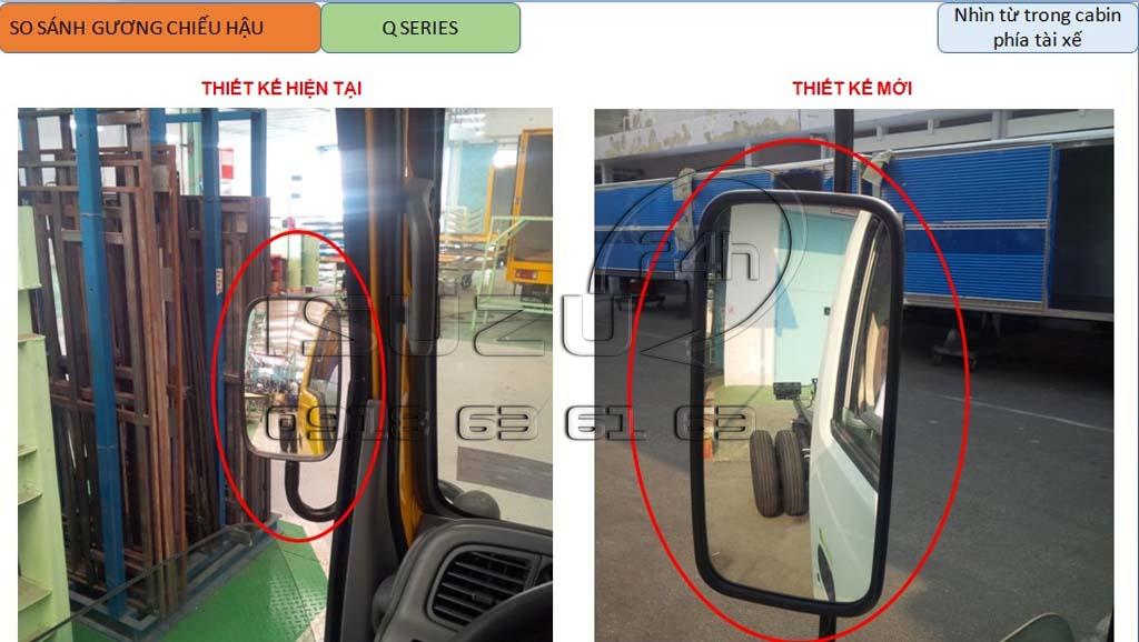 Thay độ gọng kính xe tải Isuzu QKR 91Ps Q-Series N-Series