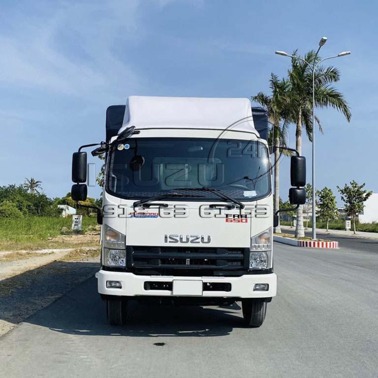 Mui lướt gió xe tải Isuzu FRR 650 6T5 thùng mui bạt bửng nhôm full inox 6t5